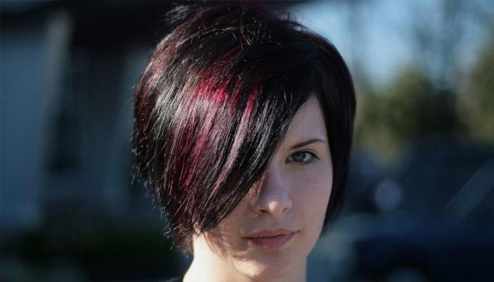 Колорирование на каре темные волосы