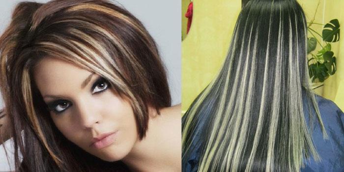 Русые волосы с белыми прядями