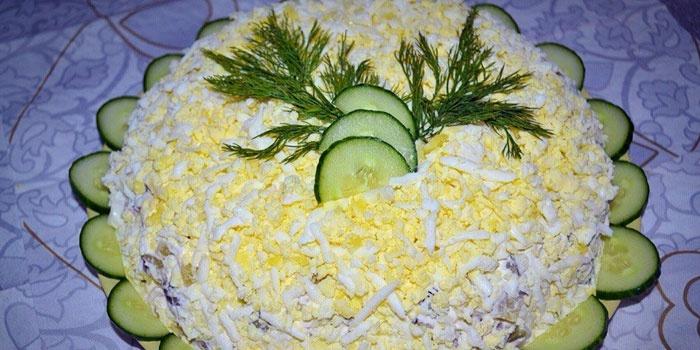 Салат невеста рецепт с фото пошаговым фото