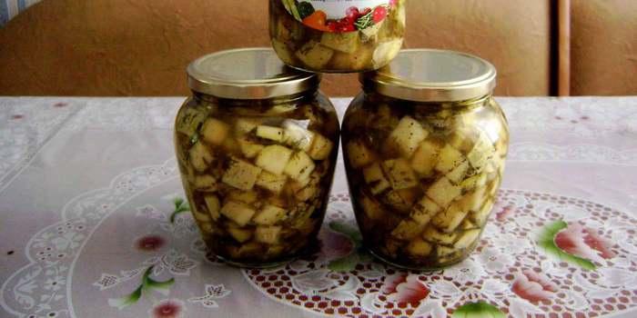 Кабачки с грибами на зиму рецепт