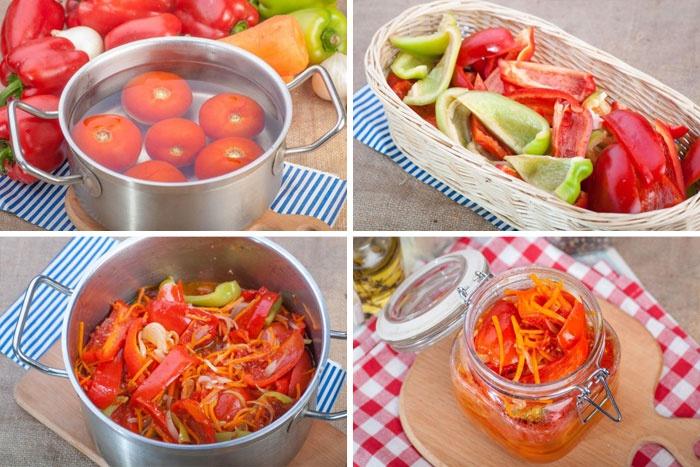 Рецепт лечо в помидорах
