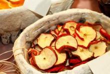 как высушить яблоки
